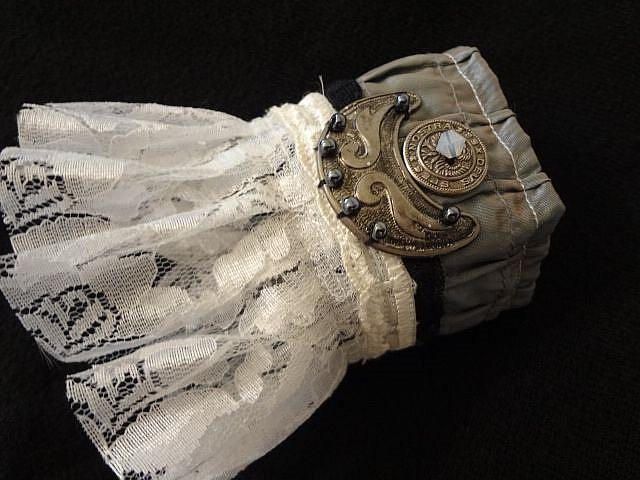Art: Ruffled Metal Cuff by Artist Vicky Helms