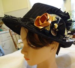 Art: COPPER ROSE HAT by Artist Vicky Helms