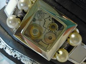 Detail Image for art Art Nouveau cuff (SOLD)