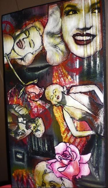 Art: Marilyn SOLD by Artist Vicky Helms