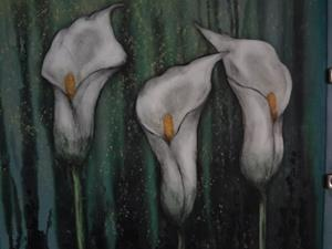Detail Image for art (SOLD) Calla Lillies