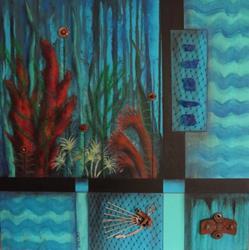 Art: Ocean Bottom.jpg by Artist Vicky Helms