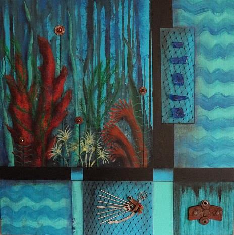Art: Ocean Bottom by Artist Vicky Helms