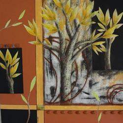Art: Good Birches Make Good Karma by Artist Vicky Helms