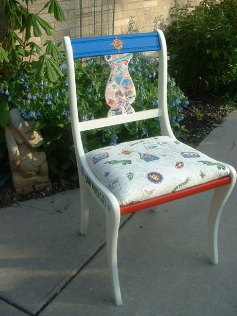 Art: Bon Voyage Chair SOLD by Artist Vicky Helms