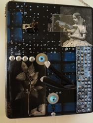 Art: Blue Bird Collage by Artist Vicky Helms
