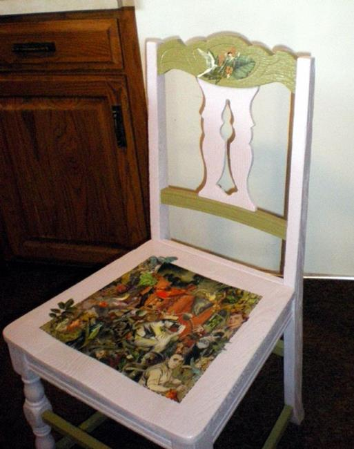 Art: Goin' Green Chair SOLD by Artist Vicky Helms