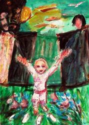 Art: First steps by Artist Gabriella Cleuren