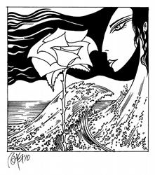 Art: Tsunami Rose by Artist Roy Guzman
