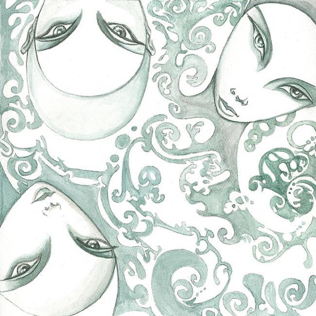 Art: Tres Hermanas by Artist Roy Guzman