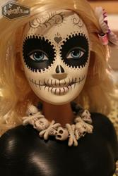 Art: Day of the dead barbie by Artist Jordana Hawen
