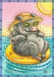 Art: HOG DAYS OF SUMMER by Artist Susan Brack