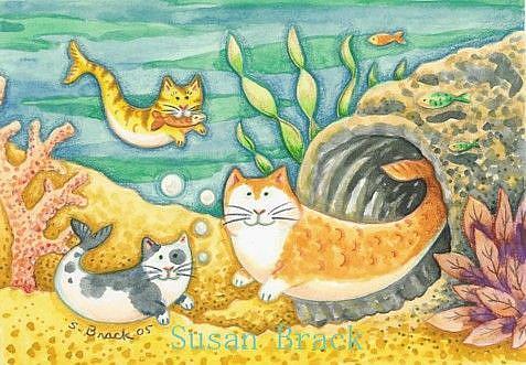 Art: CATFISH CAVE by Artist Susan Brack
