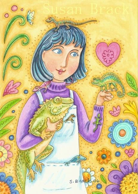 Art: LOVELY LIZARDS by Artist Susan Brack