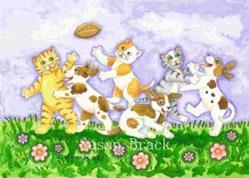 Art: PUPS VS KITTENS by Artist Susan Brack