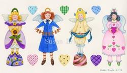 Art: WHIMSICAL ANGELS CANDY by Artist Susan Brack