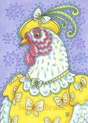 Art: CHIC IN BUTTERFLY YELLOW by Artist Susan Brack