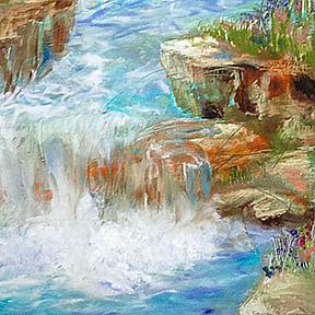 Detail Image for art Meditation Falls