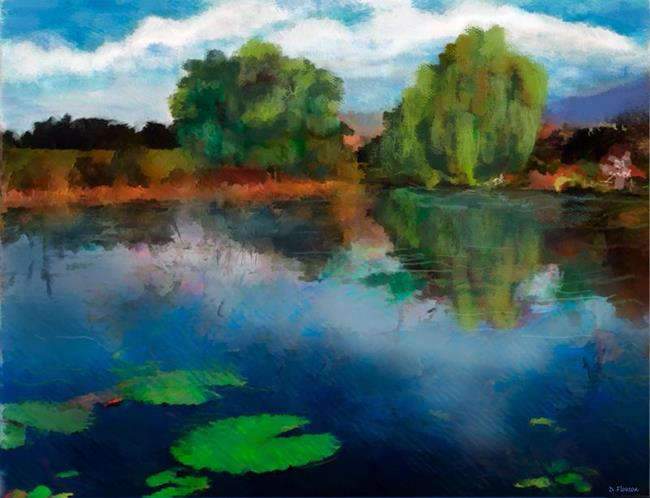 Art: Lily Pond a la Torrie by Artist Deanne Flouton