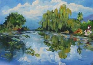 Detail Image for art Lily Pond a la Torrie