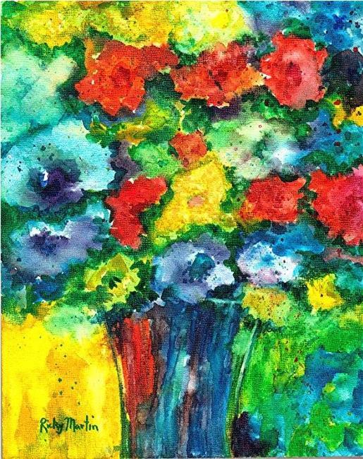Art: Autumn Bouquet by Artist Ulrike 'Ricky' Martin