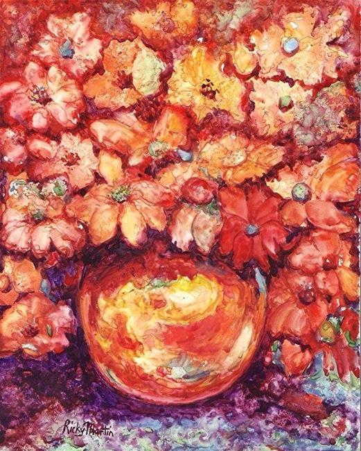 Art: Vivid Autumn  Bouquet - sold by Artist Ulrike 'Ricky' Martin