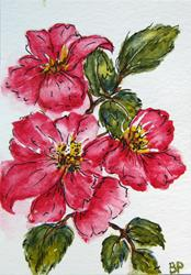 Art: Spring Blossoms - SOLD by Artist Bonnie Pankhurst
