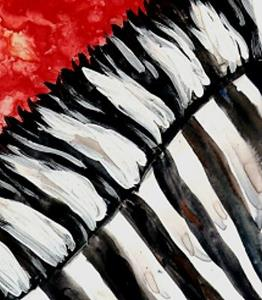 Detail Image for art Zebra Sunset