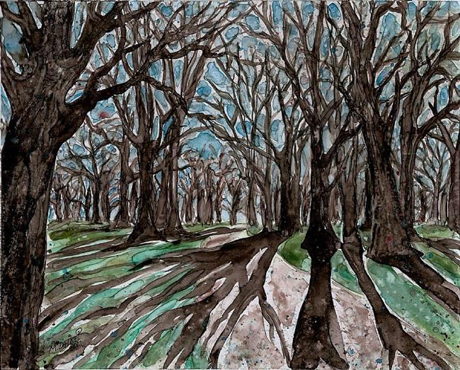 Art: Long walk by Artist Melinda Dalke