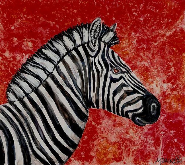 Art: Zebra Sunset by Artist Melinda Dalke