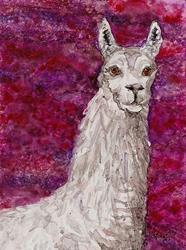 Art: Llama Impression by Artist Melinda Dalke