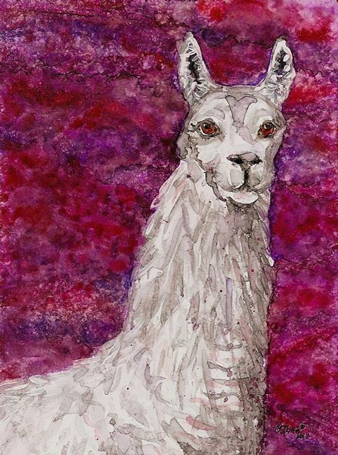Art: llama ebsq.jpga.jpga.jpg by Artist Melinda Dalke