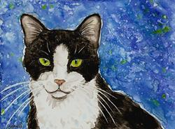 Art: Tuxedo Blues by Artist Melinda Dalke