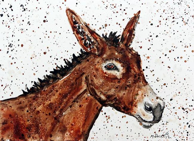 Art: Burro Impression by Artist Melinda Dalke