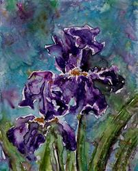 Art: Impression of Irises 2 by Artist Melinda Dalke