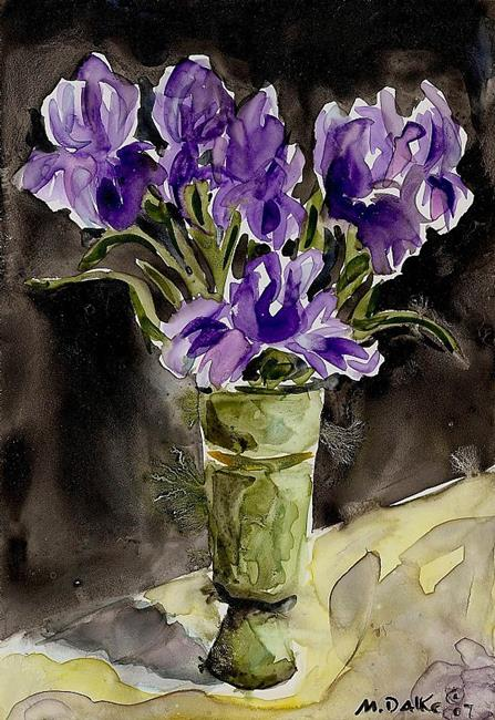 Art: Flower Vase 1 by Artist Melinda Dalke