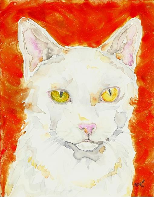 Art: White and Orange by Artist Melinda Dalke
