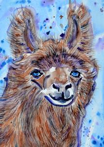 Detail Image for art Llama in Colors 1