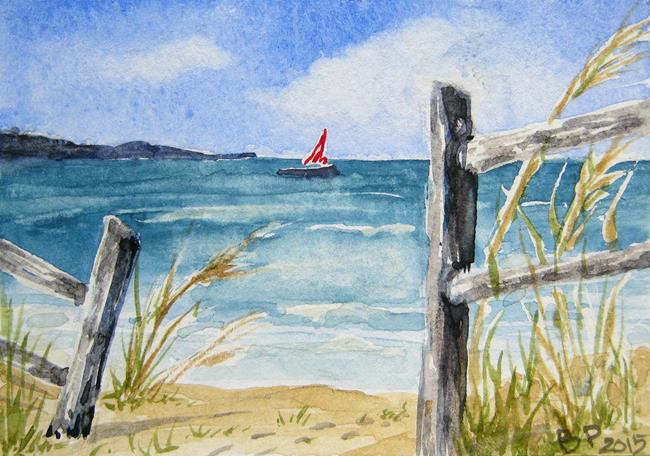 Art: Seascape - SOLD by Artist Bonnie Pankhurst