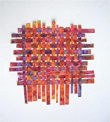 Art: Watercolor Weaving Collage by Artist Ulrike 'Ricky' Martin