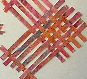 Detail Image for art Watercolor Weaving Collage