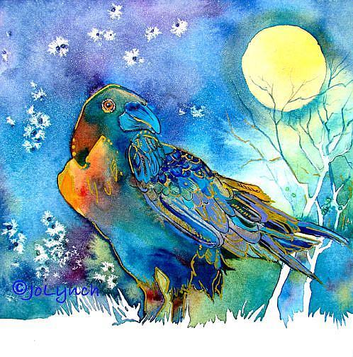 Art: Night Raven by Artist Jo Lynch