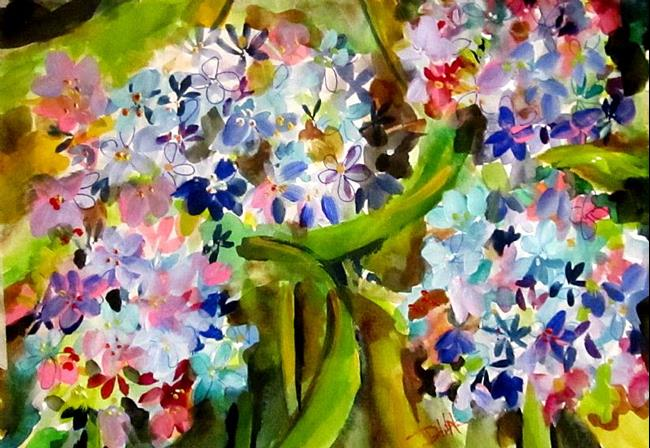 Art: Abstract Flowers by Artist Delilah Smith