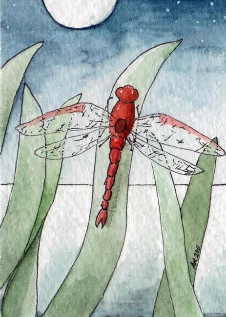 Art: Dragonfly Nights by Artist Amanda Makepeace