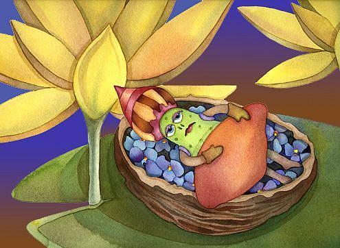 Art: Picklelina by Artist Lori Rase Hall