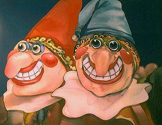 Art: Smile Jesters by Artist Lori Rase Hall