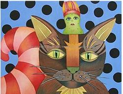 Art: Kitty & Pickleman by Artist Lori Rase Hall