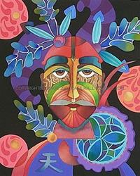 Art: Sky Mask by Artist Lori Rase Hall