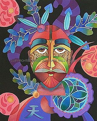Art: Sky Mask by Artist Lori Rase Hall