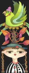 Detail Image for art Parrot Tree Hat